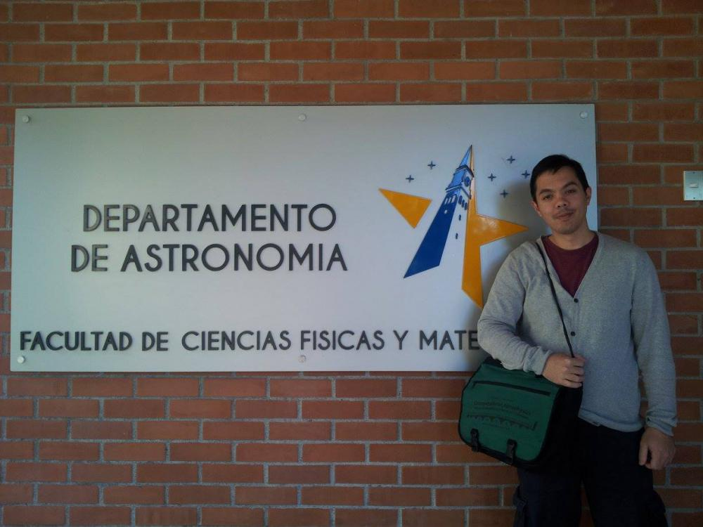 Tjarda's visit to University of Concepcion in Chile